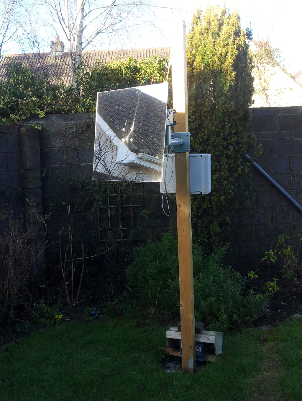 Heliostat backyard